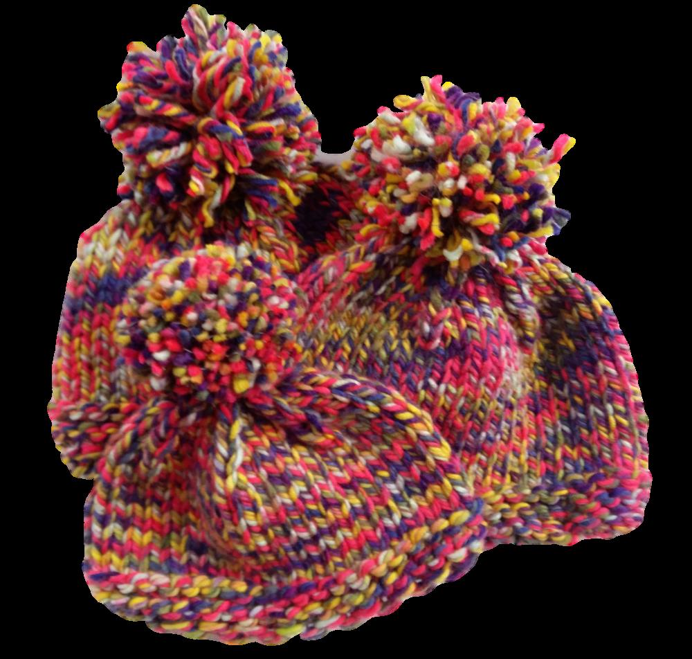 Csajos sapkák színes fényvisszaverő fonalból kötve f93373dd80