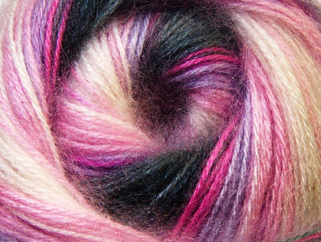 Angora Aktiv fonal, szürke , rózsaszín, lila