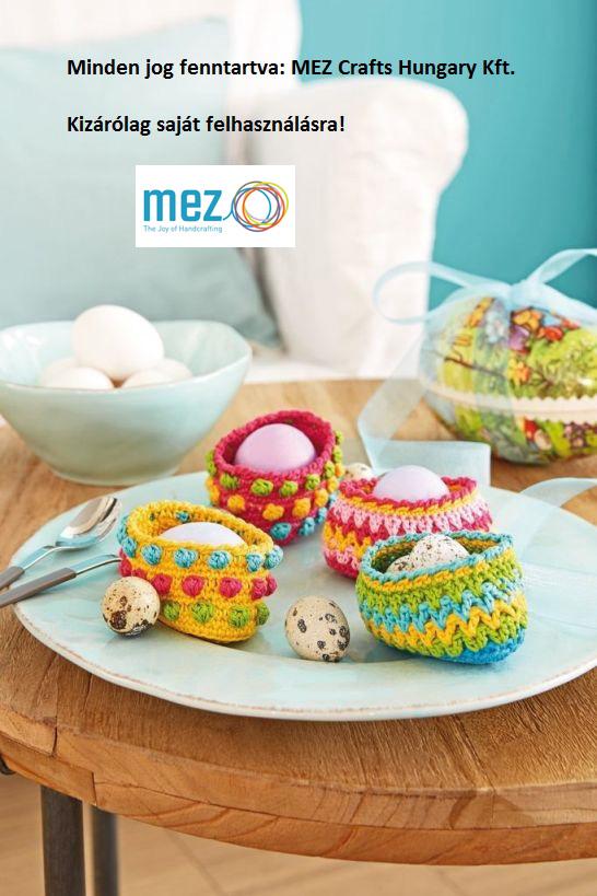 Horgolt tojástartók Húsvétra