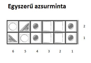Egyszerű azsurminta leszámolható rajz