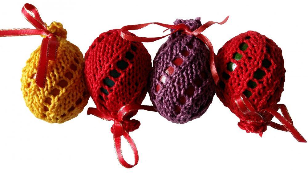 Kötött tojás tatyók Húsvétra