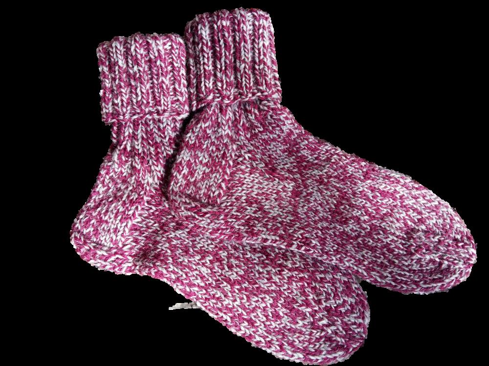 Kézzel kötött zokni egyenes sarokkal