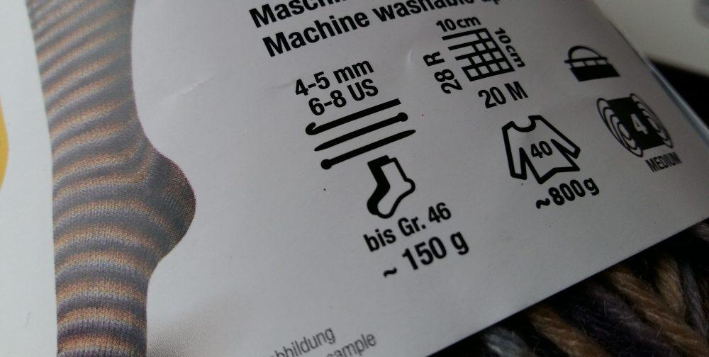 Felhasználási információk a fonalak cimkéjén