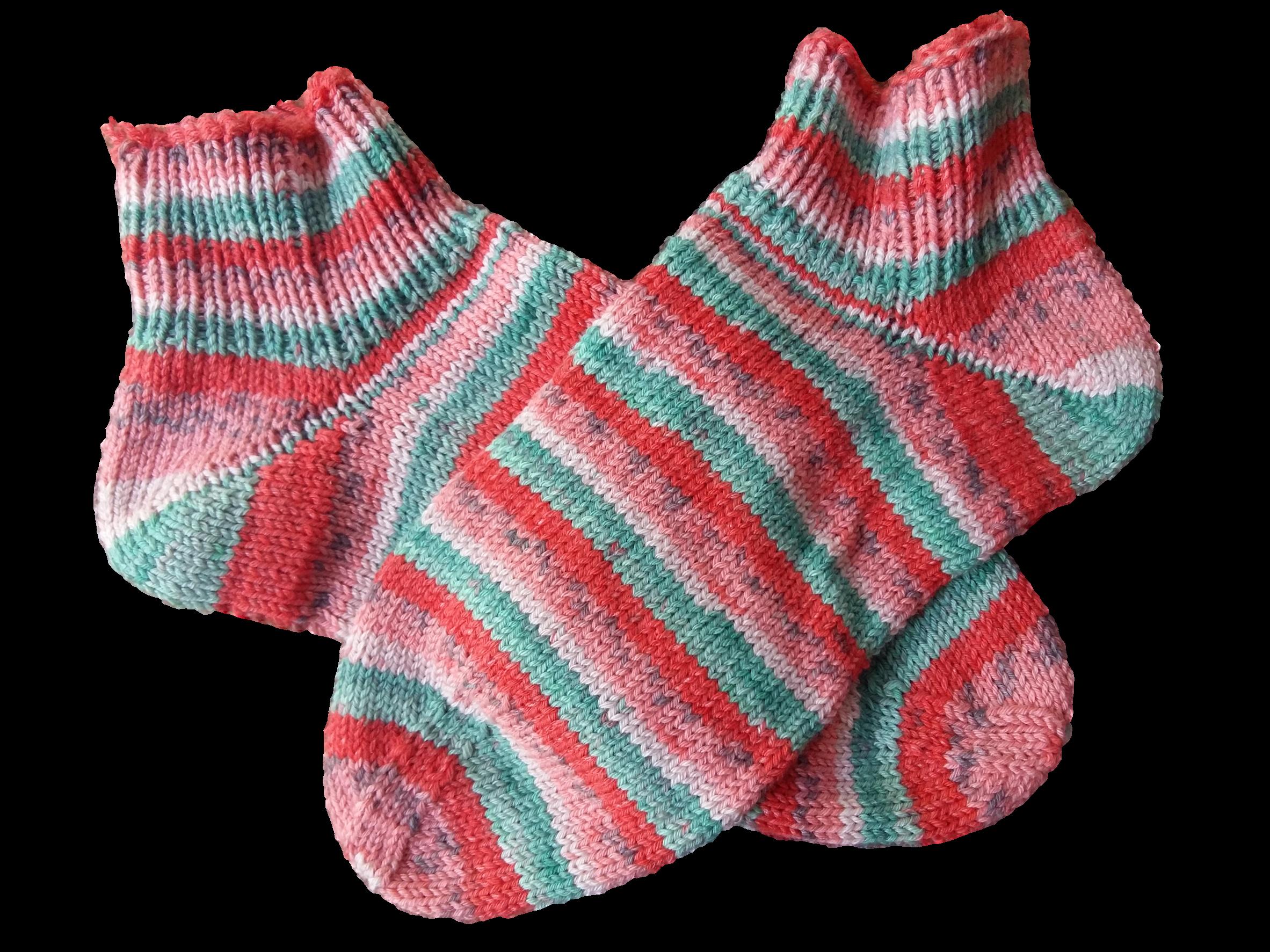 Kézzel kötött zokni