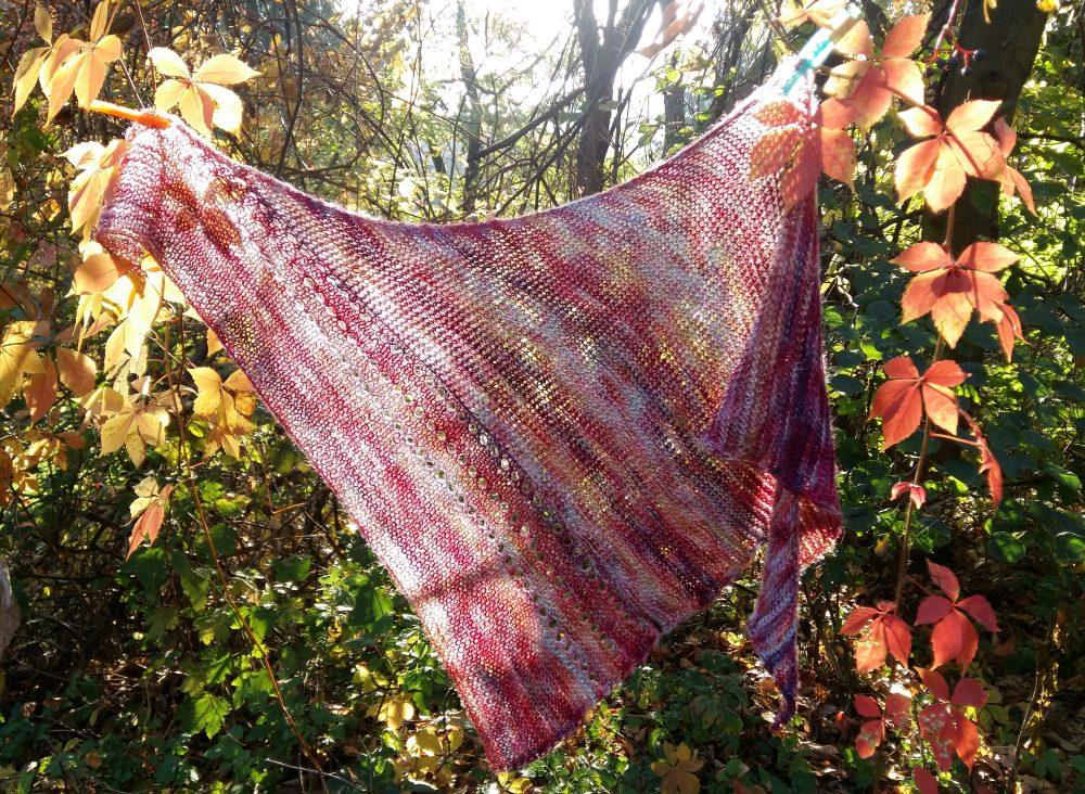 Asszimetrikus kendő őszi szél