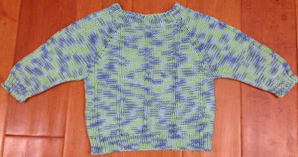 kézzel kötött pamut baba pulcsi fiúknak