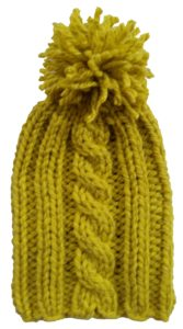 Kézzel kötött anizs sárga sapka