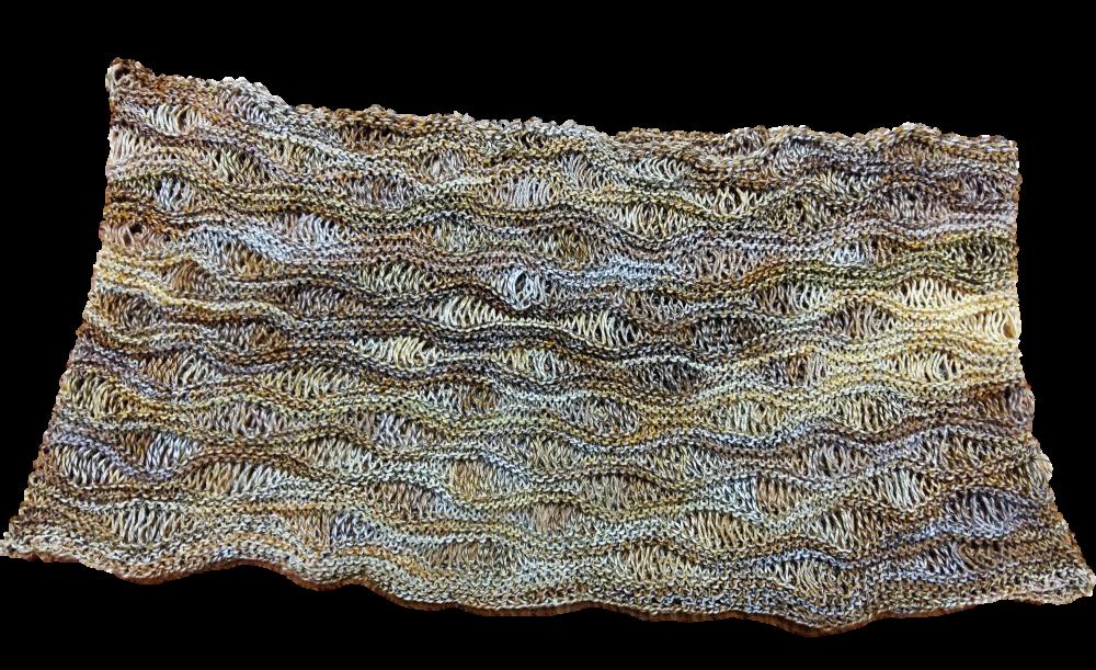 Catania color pamut körsál ejtett szemes mintával kötve
